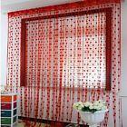 Cute Heart Line Tassel String Door Curtain Window Room Curtain Valance RD Xmas