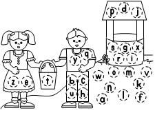 ABC Jack and Jill Letter Assessment  activity available at www.makinglearningfun.com.