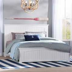 Discover the best coastal bedroom furniture sets for a beach home. Browse beach bedroom furniture sets like beds, headboards, dressers, and nightstands. Beach House Bedroom, Nautical Bedroom, Beach Bedroom Decor, Coastal Bedrooms, Home Bedroom, Cottage Bedrooms, Dream Bedroom, Bedroom Comforter Sets, Bedroom Sets