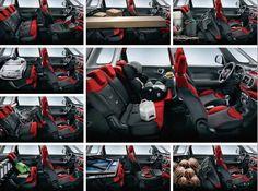 Wnętrze Fiata 500L pomieści wszystko czego potrzebujesz.