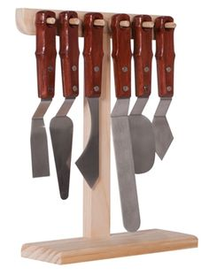 Creative Mark Painter's Edge XL Palette Knives Set of 6 + Stand