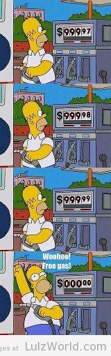 Homer Simpson Free Gas