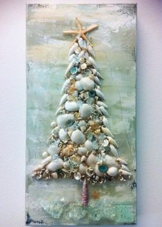 "and then you will get this image about Cheap And Easy DIY Coastal Christmas Decorations Ideas You can also find another pics by click ""Next image"" or ""Previous image"" button. ^^ CLIK PIN FOR MORE INFO ^^ Seashell Crafts Christmas Mix, Beach Christmas, Christmas Projects, All Things Christmas, Holiday Crafts, Christmas Holidays, Xmas, Holiday Beach, Nautical Christmas"