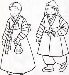 Hanbok Coloring Page