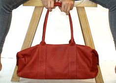 Sale Leather bag Red leather bag woman bag everyday by LimorGalili