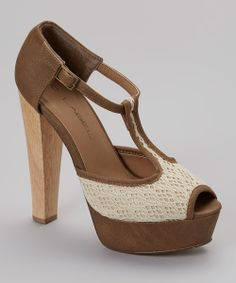 Take a look at the Taupe Suden Platform Pump on #zulily today!