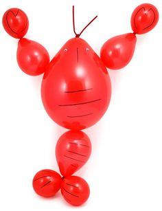 Create a crawfish with regular red balloons. @Aimee Peter for the next crawfish boil!