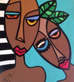Abstract Face Art, Art Visage, Cubism Art, Picasso Art, Art Drawings For Kids, Oeuvre D'art, African Art, Graphic, Love Art