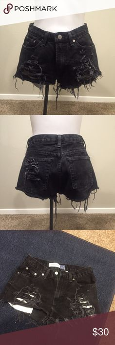 Black Denim Cutoffs Gap Jeans Turned Into Your New Fave Shorts. Worn Once. Ideal Condition! GAP Shorts Jean Shorts