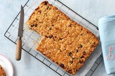 Looking for a nutritious afternoon snack? Look no further than this fruit filled muesli slice.