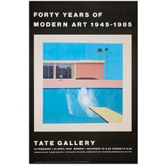 Tate vintage poster reproduction - David Hockney A Bigger Splash David Hockney Tate, David Hockney Artwork, David Hockney Prints, Museum Poster, Tate Gallery, Tate Britain, Kinetic Art, Exhibition Poster, Art Plastique