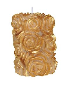 "Volcanica Flora Small Pillar Candle Ivory/Gold-3"" x 4"" Volcanica Candles http://www.amazon.com/dp/B00FB37DQK/ref=cm_sw_r_pi_dp_7FaHvb10B2TN1"
