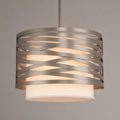 Tempest Drum Pendant with Shade by Hammerton Studio