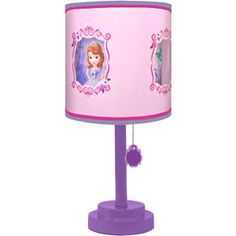 Disney Sofia the First Table Lamp with Diecut Double Shade Cyber Monday Black Friday Walmart Sofia The First Room, Princess Sofia The First, Disney Lamp, Baby Girl Toys, Princess Room, Disney Princess, Little Girl Rooms, Decoration, Wall Decals