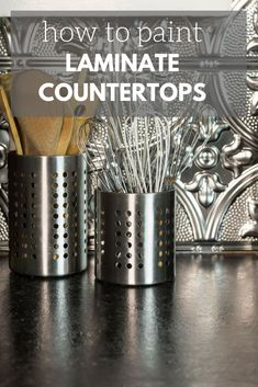 How To Choose New Kitchen Countertops When Kitchen Remodeling Painting Laminate Countertops, Countertop Redo, Kitchen Countertop Materials, Diy Countertops, Kitchen Paint, Kitchen Decor, Kitchen Design, Ikea Kitchen, Kitchen Hacks