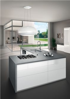 Kitchen with Shell Elica hood