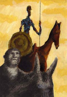 """""""El Quijote Gráfico"""" - 400 Years Since The Journey of That Sad Character. Dom Quixote, The Orator, Chivalry, American Artists, Windmill, Journey, Fancy, Adventure, Books"""