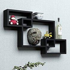 White Cube Shelves, Floating Wall Shelves, Small Shelves, Wall Shelf Rack, Wall Mounted Shelves, Hanging Shelves, Display Shelves, Metallic Paint Walls, Cafe Furniture