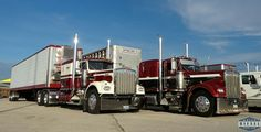 Pair of classic Kenworth trucks. Gorgeous trucks in their day. REAL trucks IMO.