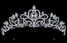 Royal-Princess-Bridal-Crown-For-Wedding-Pageant-Veil-Tiara-Silver-Plated-Rhinestone-Crystal-Headband-Tiara-Crowns.jpg (767×492)