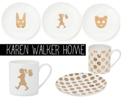 Gold spotty plates - yes please!
