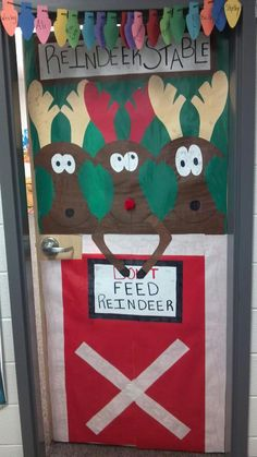 My door at school I decorated for Christmas