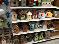 birdhouses inspiration- in case I ever get around to repainting the ones we have