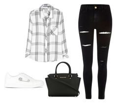 """""""Senza titolo #177"""" by namelessangy ❤ liked on Polyvore featuring Rails, River Island, Versus and MICHAEL Michael Kors"""