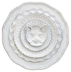 Ceramics - Astier de Villatte, Paris (at John Derian) Ceramic Plates, Ceramic Pottery, Ceramic Art, Decorative Plates, White Dinnerware, Ceramics Projects, Plates And Bowls, Shades Of White, Cat Face