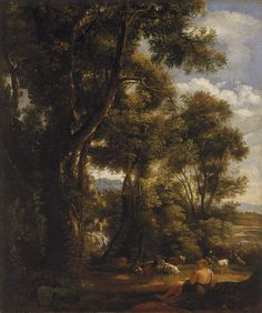 John Constable (English, 1776-1837), Landscape with Goatherd and Goats, 1823. Oil on canvas,53.3 x 44.5cm.