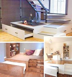 Bed Furniture Designs   For Living In Small Spaces / Houses