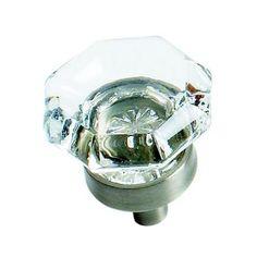 Newell Rubbermaid - 1 Inch Clear Glass Knob Eith Satin Nickel Base - BP55266-CG10 - Home Depot Canada