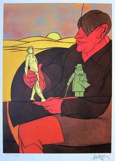 Valerio Adami - Hand Signed Original Lithograph – Art & Vintage Store Ltd Italian Painters, Italian Artist, Wall Art Decor, Wall Art Prints, Paris Poster, Arches Paper, Affordable Art, Illustrations And Posters, Art Journal Inspiration