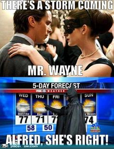 funny Batman weather forecast