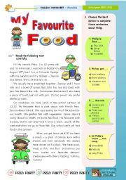 English Worksheet My Favourite Food Reading Leading To Writing For Upper Elementary Lower Inter Favorite Learn Word Recipes Essay In Hindi Indian Clas 2
