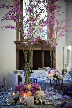 tall but simple centerpieces - Vibiana | Wedding, Events and Performing Arts Venue | Located in the Historic Core of Downtown Los Angeles