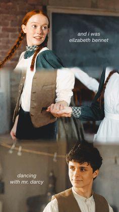 """Y yo era Elizabeth Bennet bailando con el Sr. Gilbert Blythe, Anne Shirley, Anne Of Green Gables, Jane Austen, Amybeth Mcnulty, Gilbert And Anne, Anne White, Anne With An E, Elizabeth Bennet"