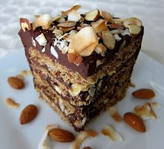 Turn a fave candy bar into a next-level dessert with Almond Joy Layer Cake.