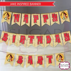 Jake and the Neverland Pirates Party Banner-DIY Printable