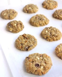 Soft & Chewy Kitchen Sink Cookies with 3 types of chocolate chips, oats, almonds, & walnuts! The possibilities are endless- crushed pretzels, crushed potato chips, chocolate-covered almonds, peanuts, peanut butter chips, and more.