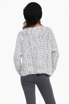 Must Have Knit Long Sleeve Sweater in Grey   Necessary Clothing