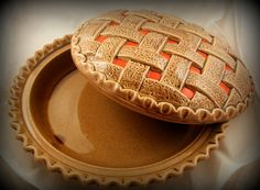 Vintage Ceramic Cherry Pie Plate Dish With Cover Lid : plate pies - pezcame.com