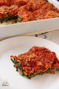 lasagnes aux épinards et au pesto.