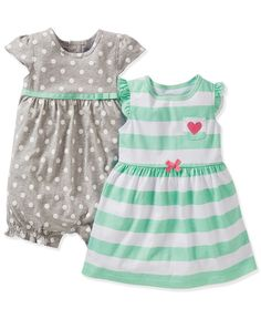 Carter's Baby Girls' 3-Pack Romper, Dress & Panty Set - Kids Baby Girl (0-24 months) - Macy's