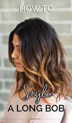 The lob, or long bob is the new HOT hair style for 2015! This is a great tutorial for styling your lob in to gorgeous, loose waves!