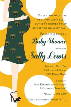 Baylor University Baby Shower Invitations