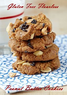 Gluten Free Flourless Peanut Butter Cookies - Get the recipe at This Mama Cooks! On a Diet