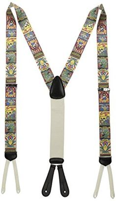 """Suspenders // Braces Made n USA Men/'s Stars and Stripes 42/"""" Large New 2/"""" Adj"""