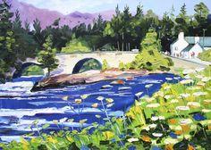 Home Art, Art Prints, Gallery, Fall, Painting, Art Impressions, Autumn, Roof Rack, Fall Season