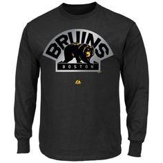 Majestic Boston Bruins Game Reflex Long Sleeve T-Shirt - Black